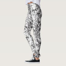 Ladies Skull Leggings