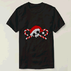 Cute Santa Skull with Candy Canes